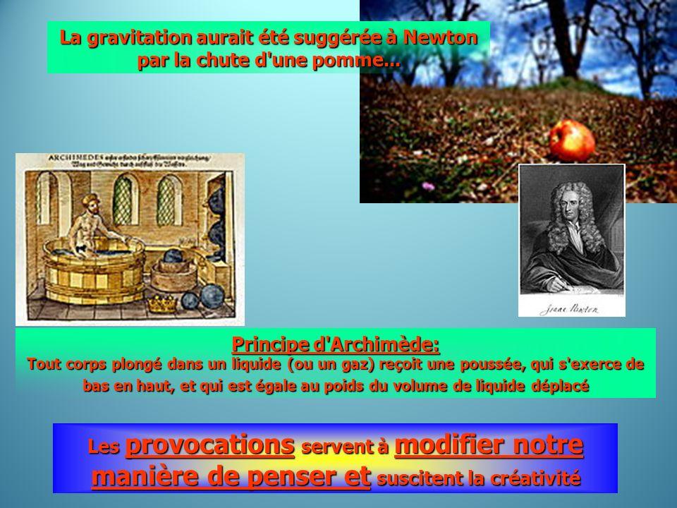 La gravitation aurait été suggérée à Newton par la chute d une pomme...