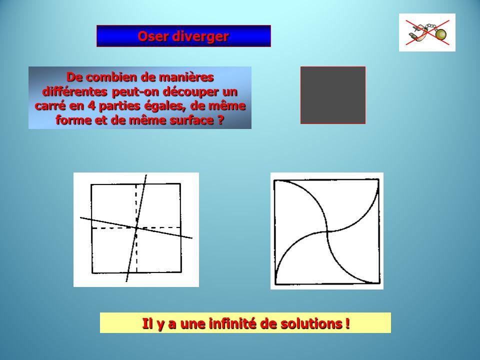 Il y a une infinité de solutions !