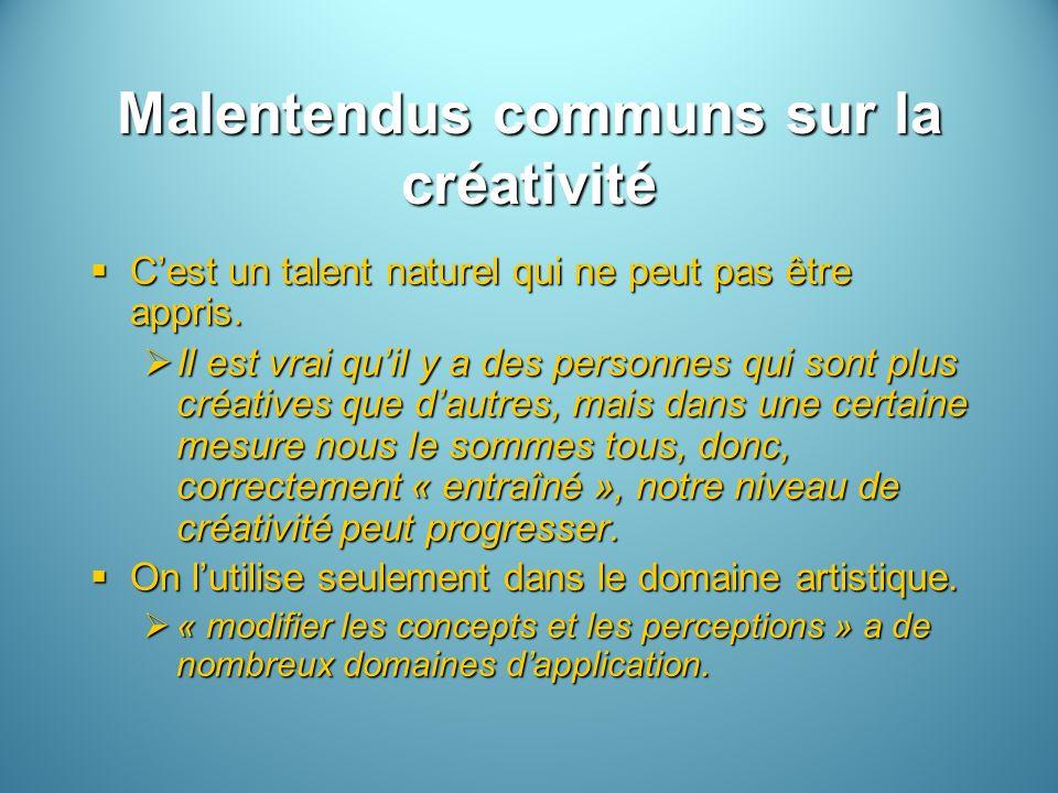 Malentendus communs sur la créativité