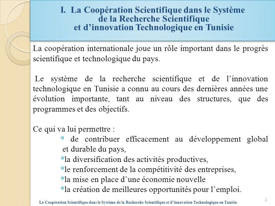 I. La Coopération Scientifique dans le Système