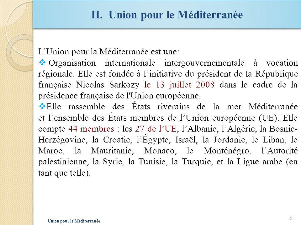 II. Union pour le Méditerranée