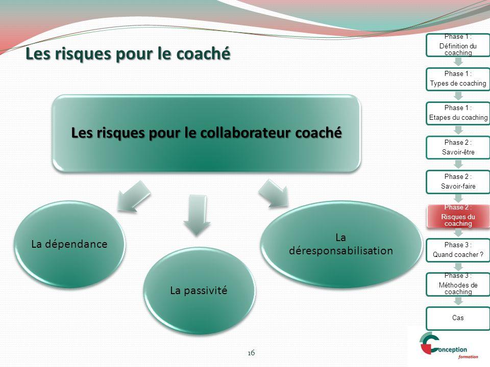 Les risques pour le coaché
