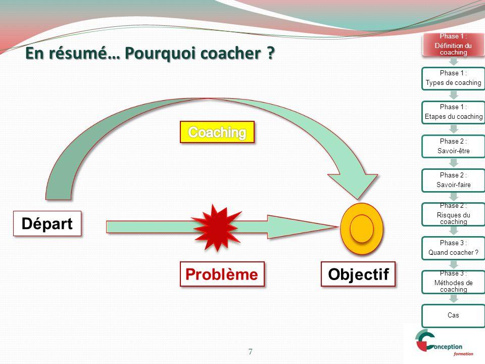 En résumé… Pourquoi coacher