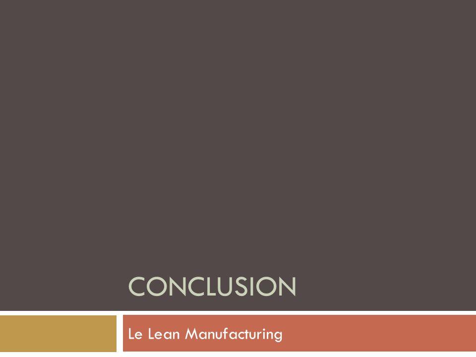 Conclusion Le Lean Manufacturing