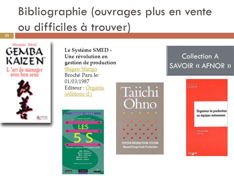 Bibliographie (ouvrages plus en vente ou difficiles à trouver)