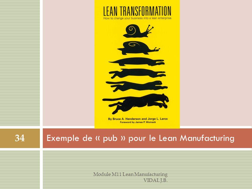 Exemple de « pub » pour le Lean Manufacturing