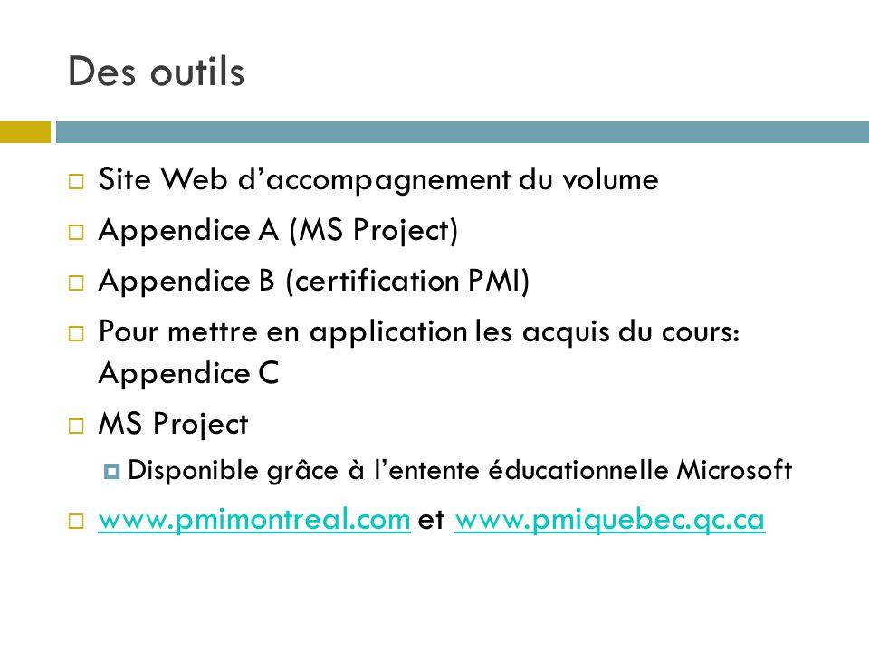 Des outils Site Web d'accompagnement du volume