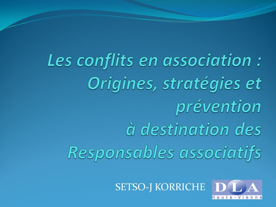 Les conflits en association : Origines, stratégies et prévention à destination des Responsables associatifs