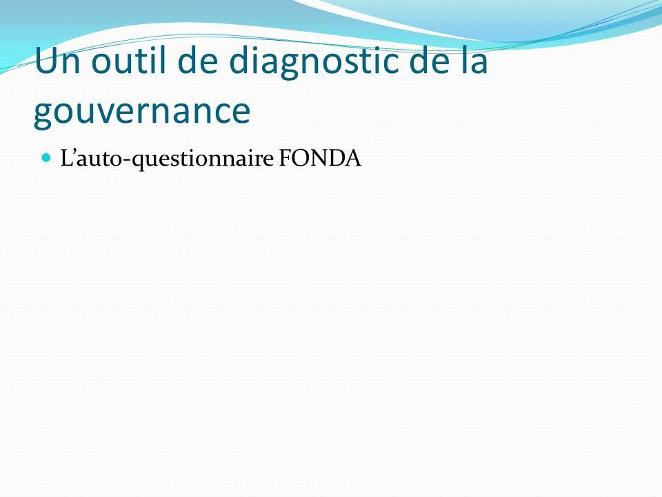 Un outil de diagnostic de la gouvernance