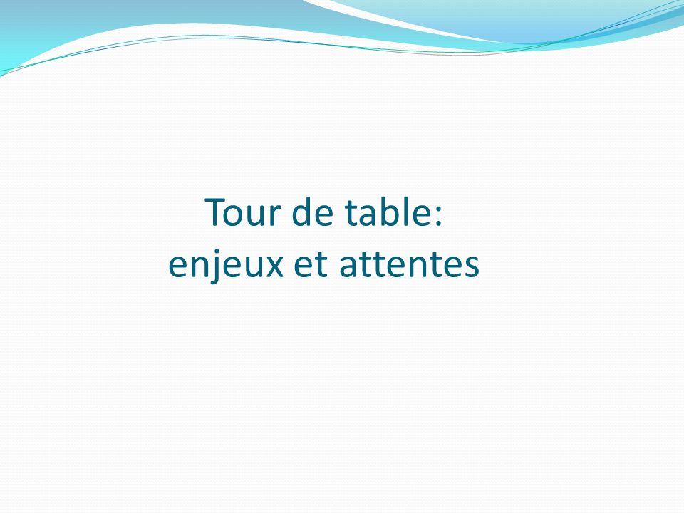 Tour de table: enjeux et attentes