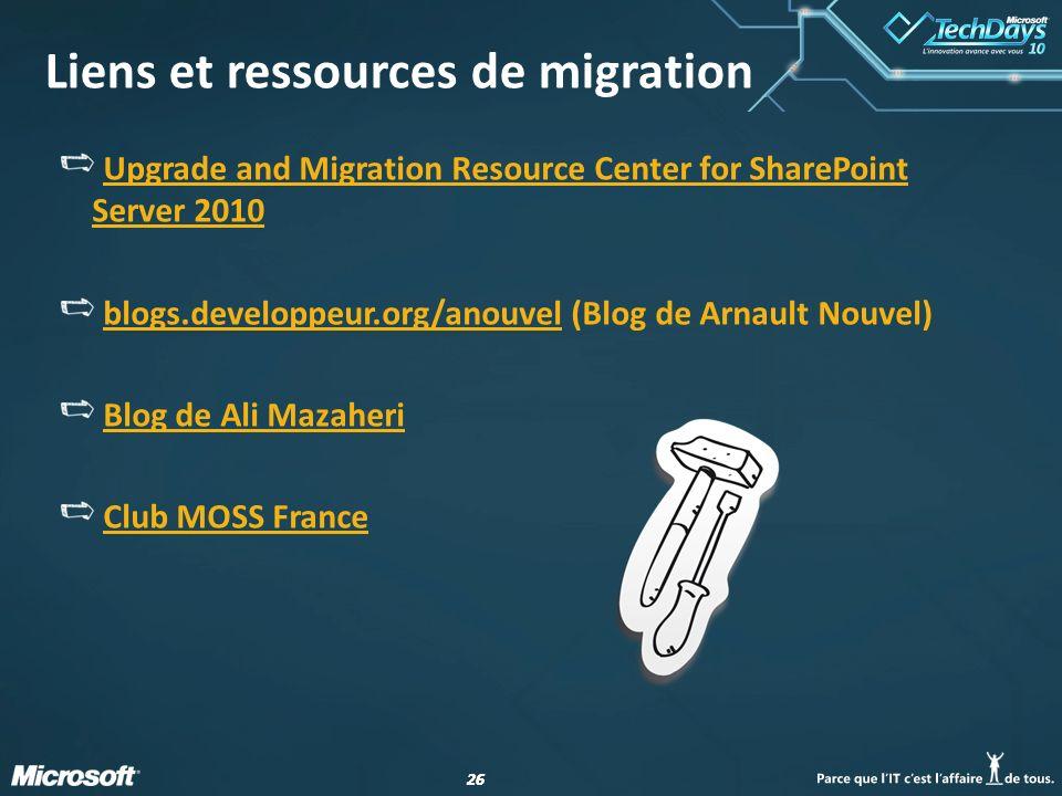 Liens et ressources de migration