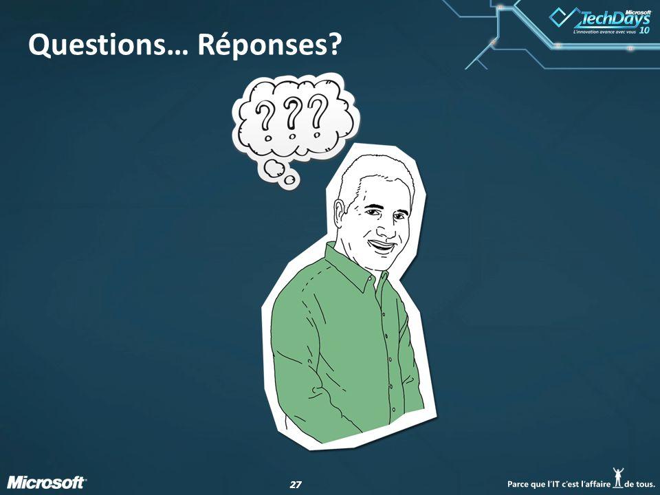 Questions… Réponses