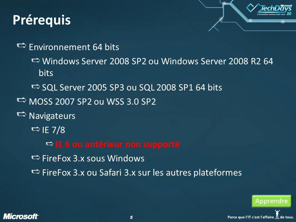 Prérequis Environnement 64 bits