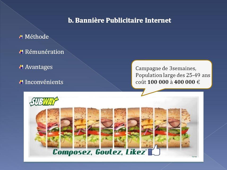 b. Bannière Publicitaire Internet