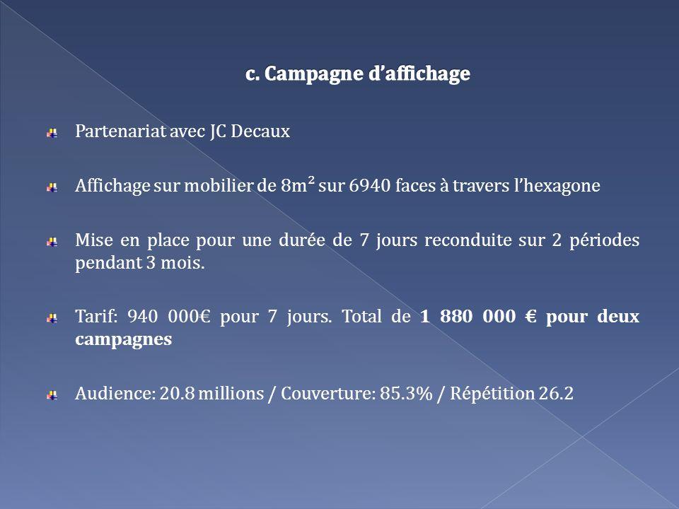 c. Campagne d'affichage