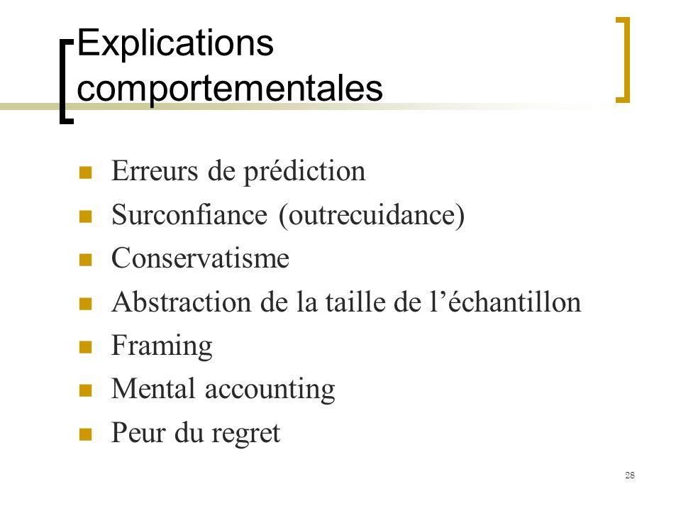Explications comportementales