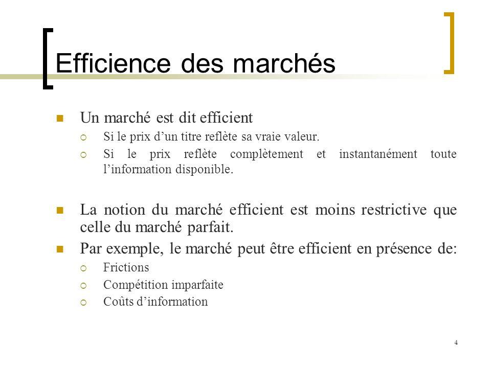 Efficience des marchés