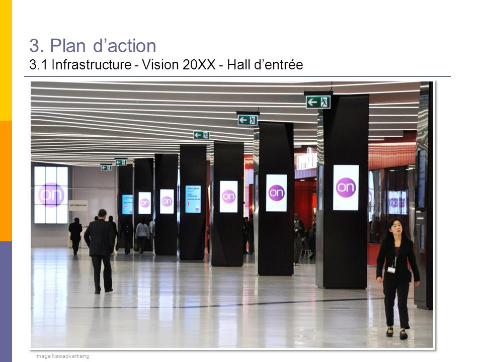 3. Plan d'action 3.1 Infrastructure - Vision 20XX - Hall d'entrée
