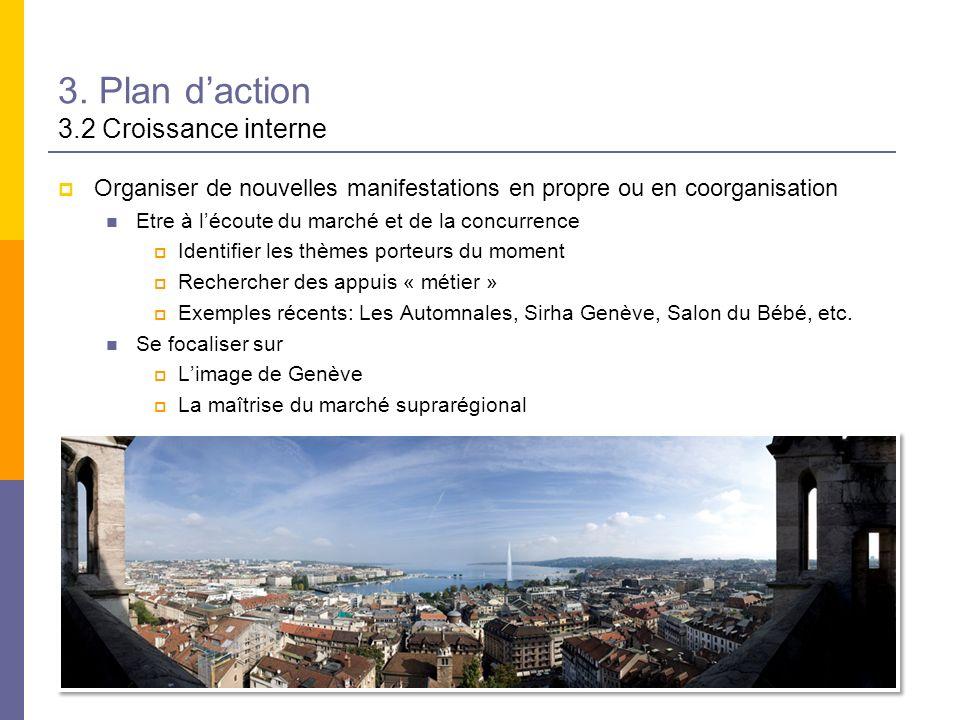 3. Plan d'action 3.2 Croissance interne