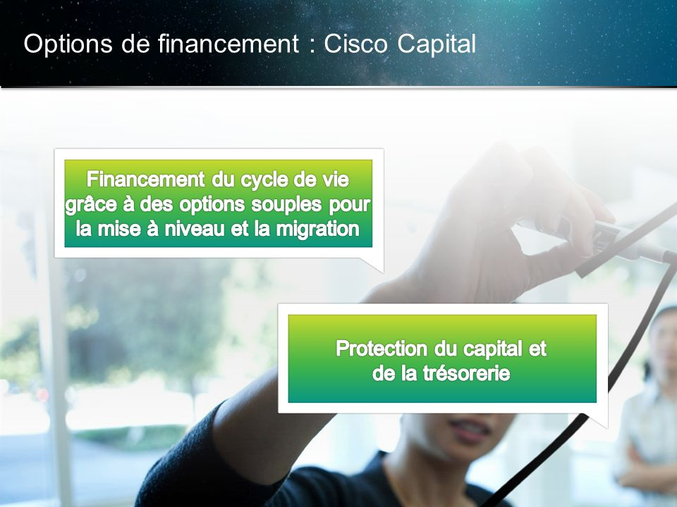 Options de financement : Cisco Capital