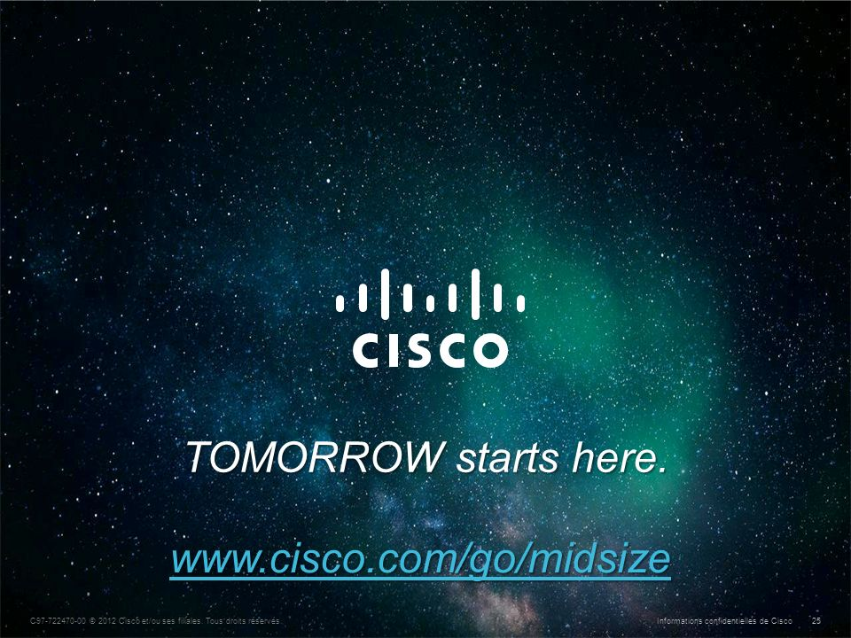 TOMORROW starts here. www.cisco.com/go/midsize