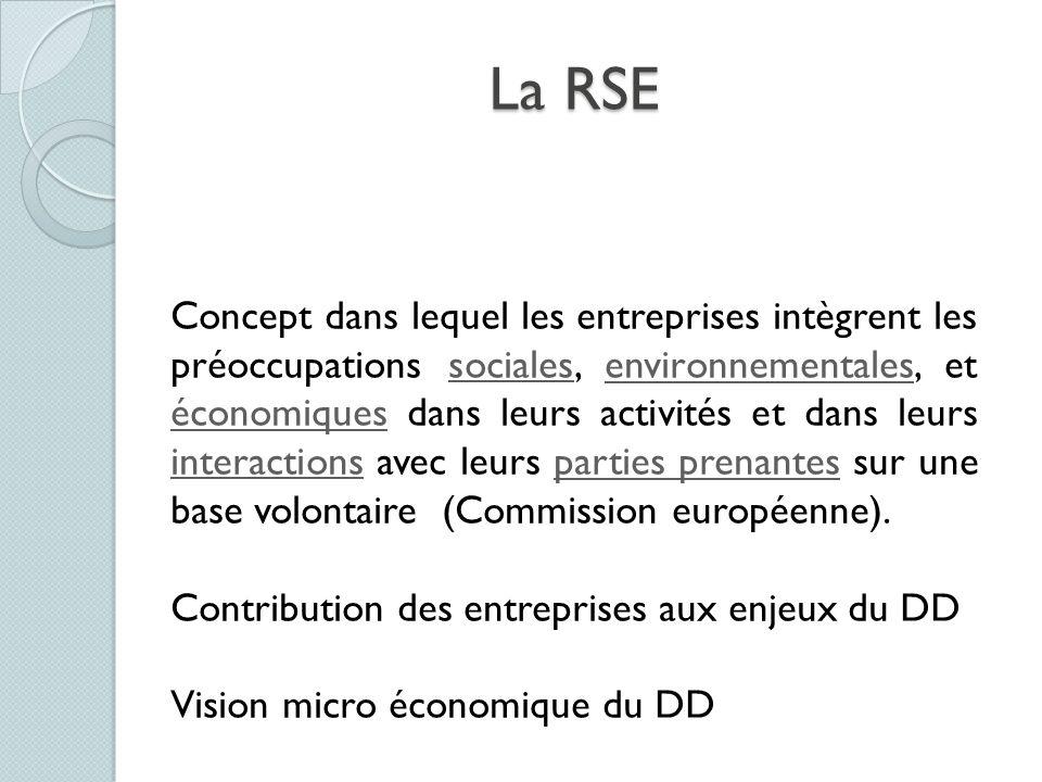La RSE