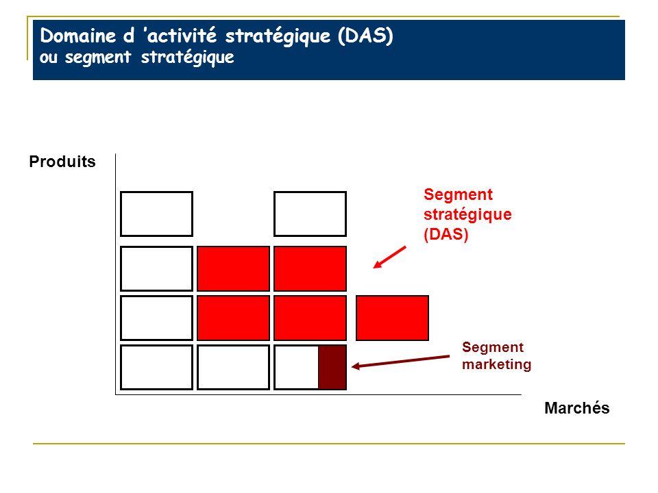Domaine d 'activité stratégique (DAS) ou segment stratégique