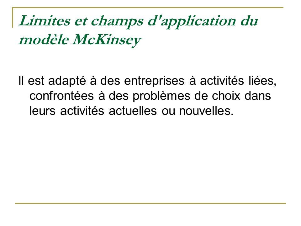 Limites et champs d application du modèle McKinsey