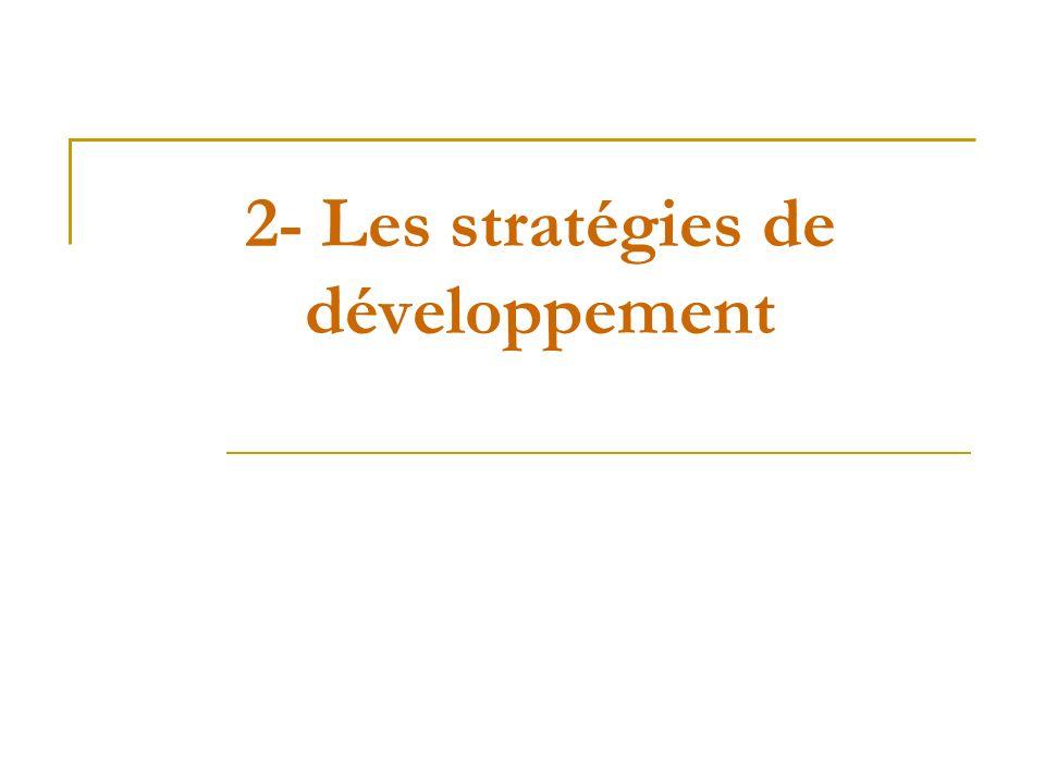 2- Les stratégies de développement
