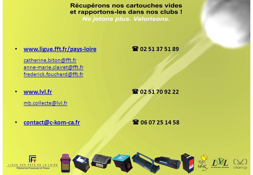 www. ligue. fft. fr/pays-loire.  02 51 37 51 89 catherine. biton@fft