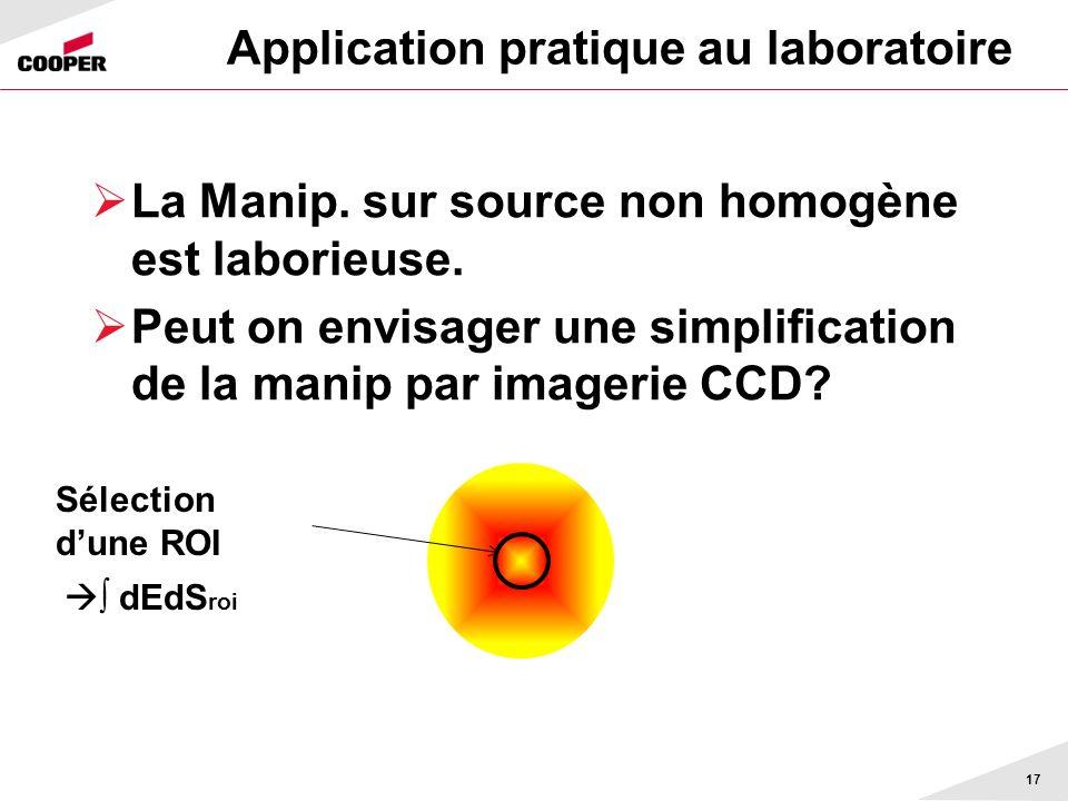 Application pratique au laboratoire