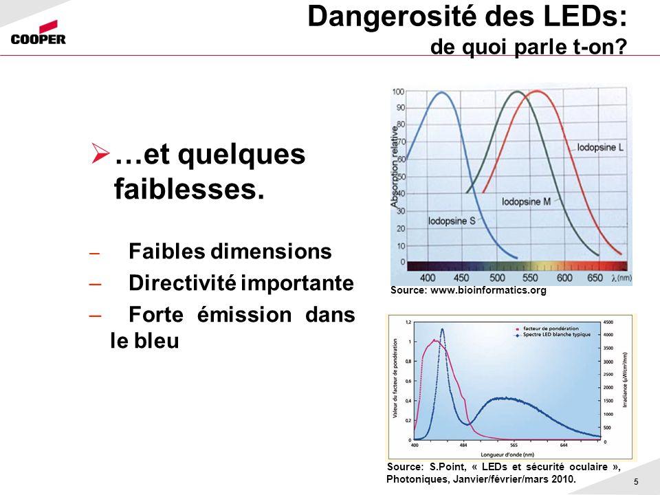 Dangerosité des LEDs: de quoi parle t-on
