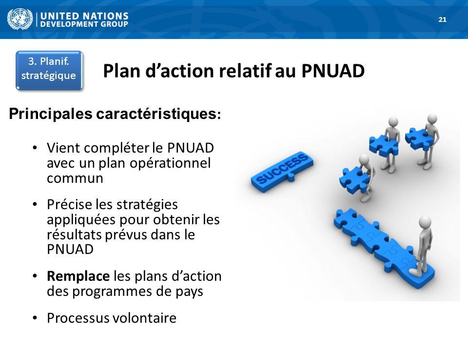 Plan d'action relatif au PNUAD