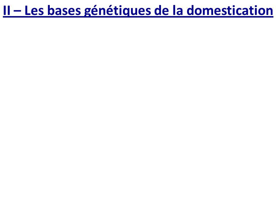 II – Les bases génétiques de la domestication