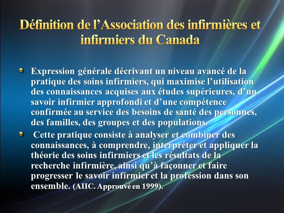 Définition de l'Association des infirmières et infirmiers du Canada