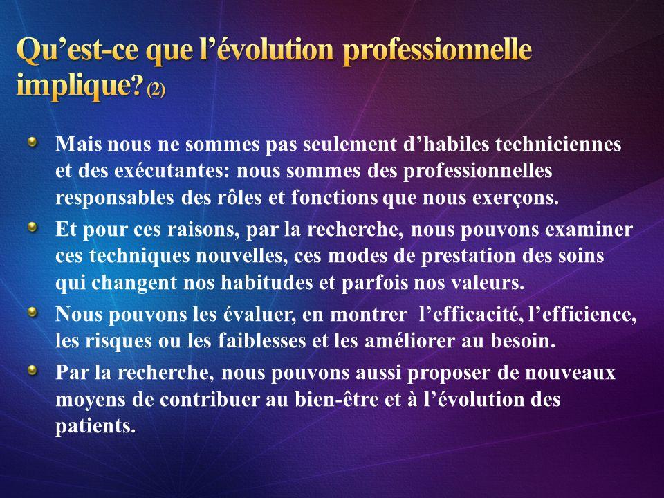 Qu'est-ce que l'évolution professionnelle implique (2)