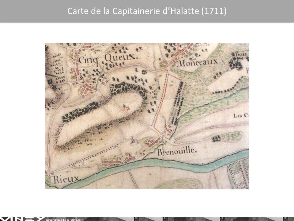 Carte de la Capitainerie d'Halatte (1711)