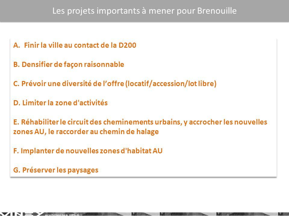 Les projets importants à mener pour Brenouille