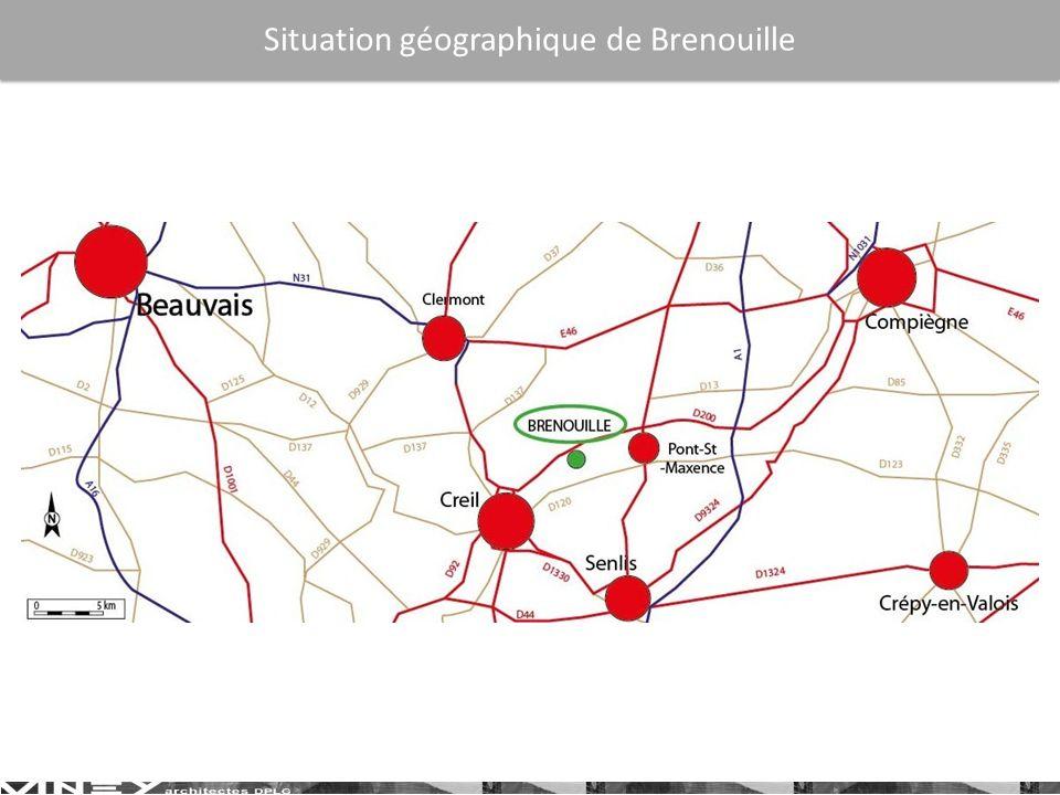 Situation géographique de Brenouille