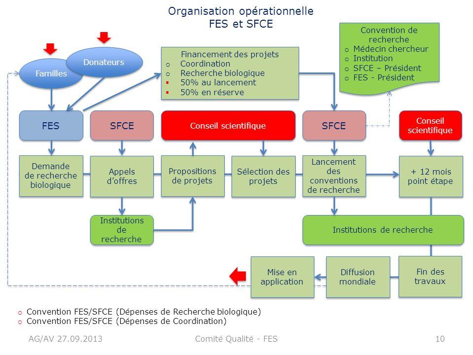 Organisation opérationnelle FES et SFCE