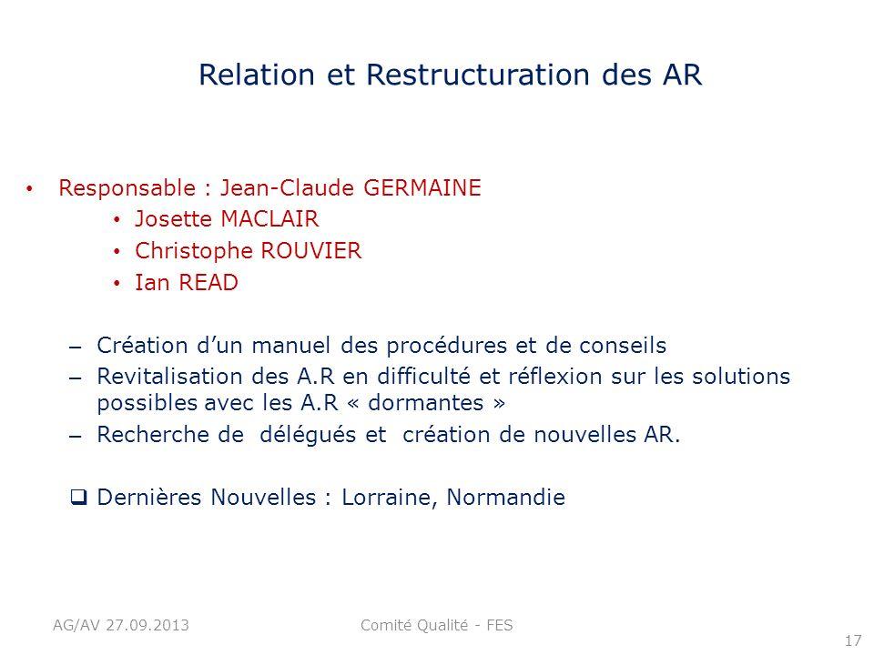 Relation et Restructuration des AR