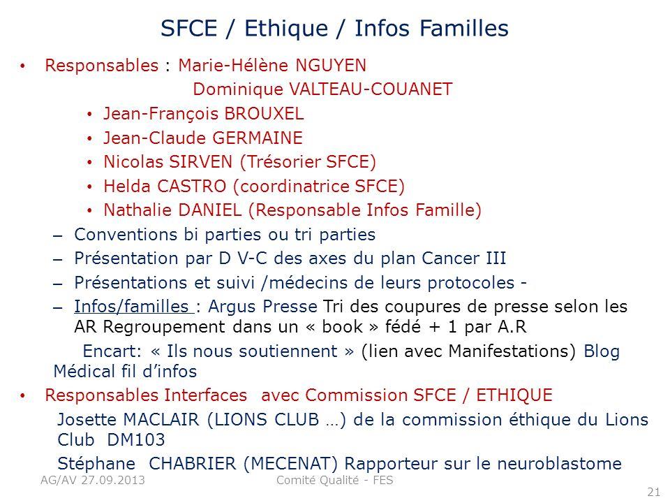 SFCE / Ethique / Infos Familles