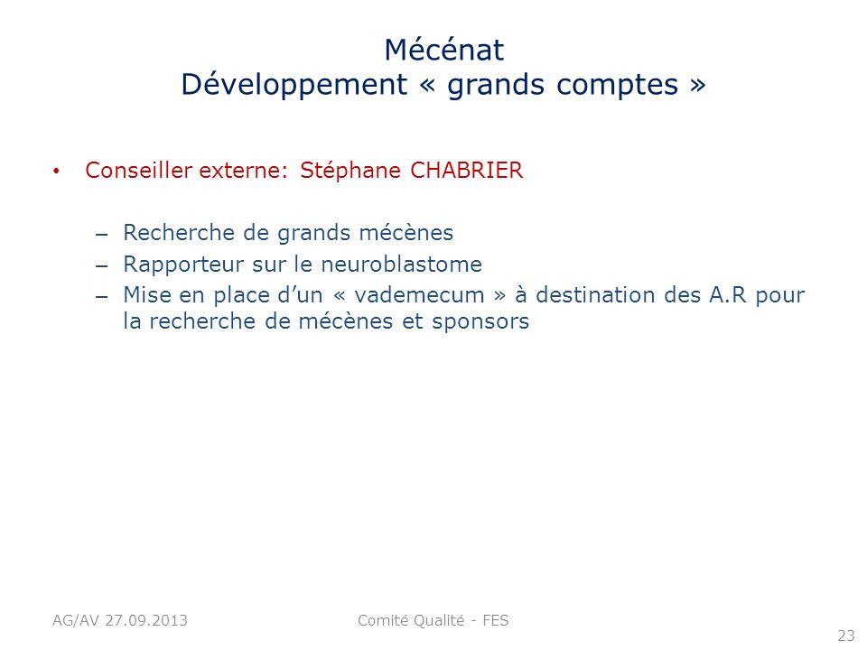 Mécénat Développement « grands comptes »
