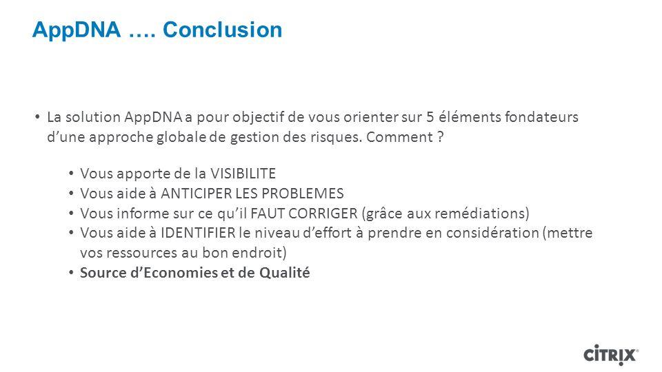 AppDNA …. Conclusion