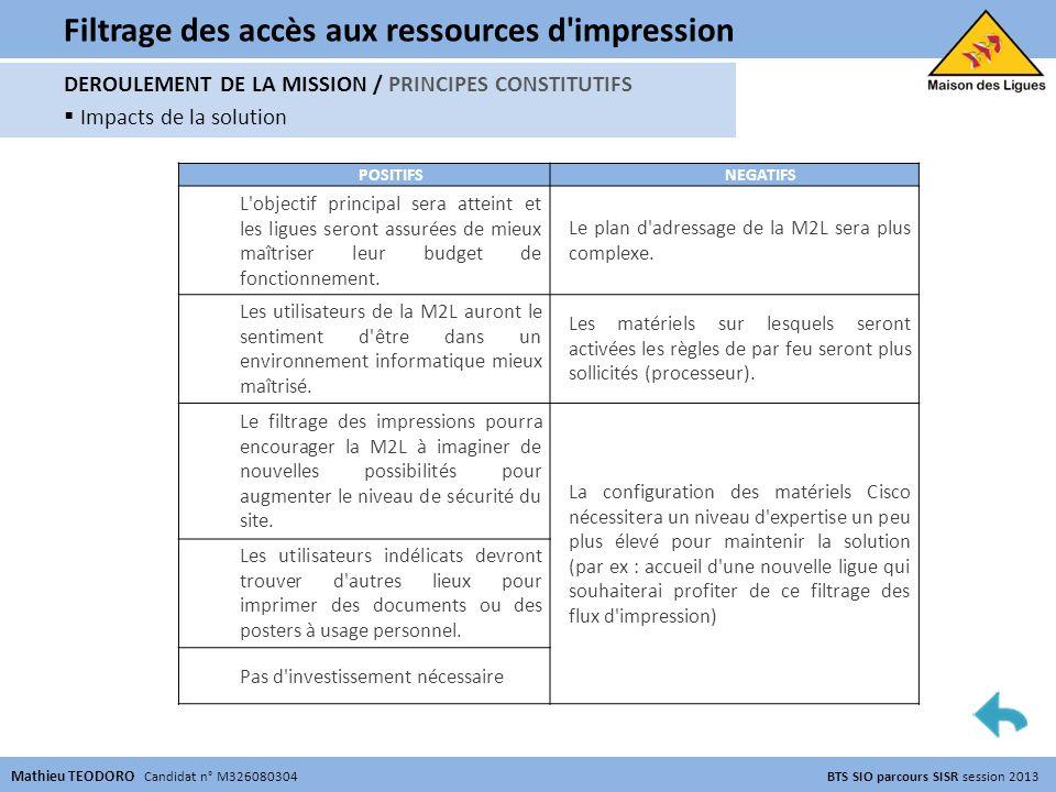 Filtrage des accès aux ressources d impression