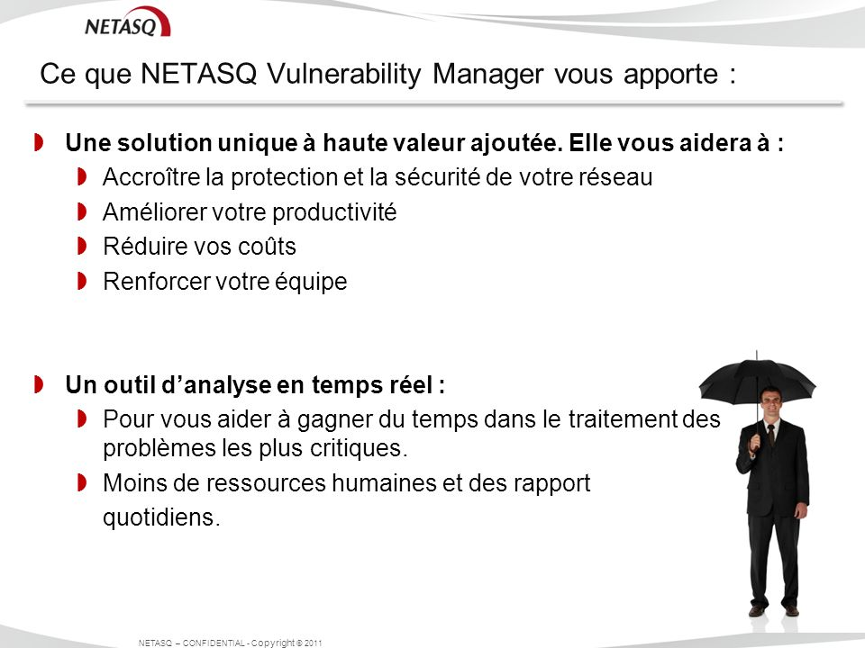 Ce que NETASQ Vulnerability Manager vous apporte :