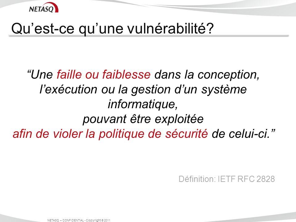 Qu'est-ce qu'une vulnérabilité