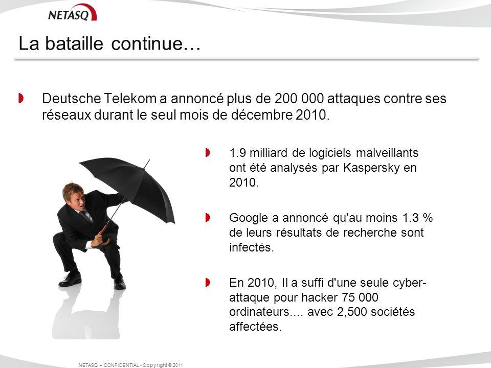 La bataille continue… Deutsche Telekom a annoncé plus de 200 000 attaques contre ses réseaux durant le seul mois de décembre 2010.