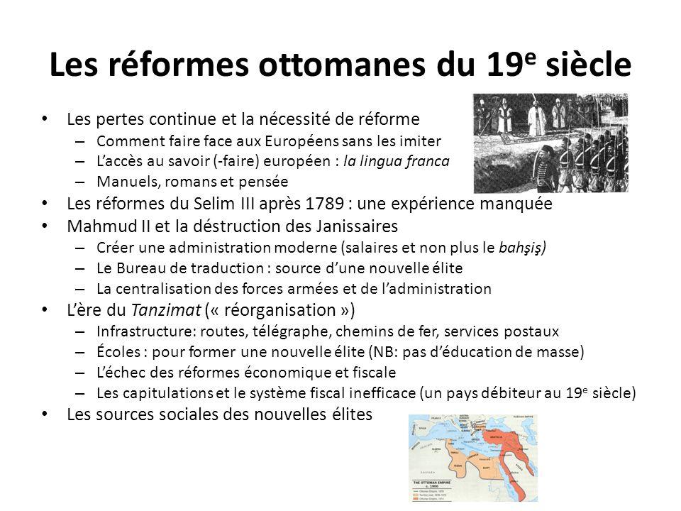 Les réformes ottomanes du 19e siècle