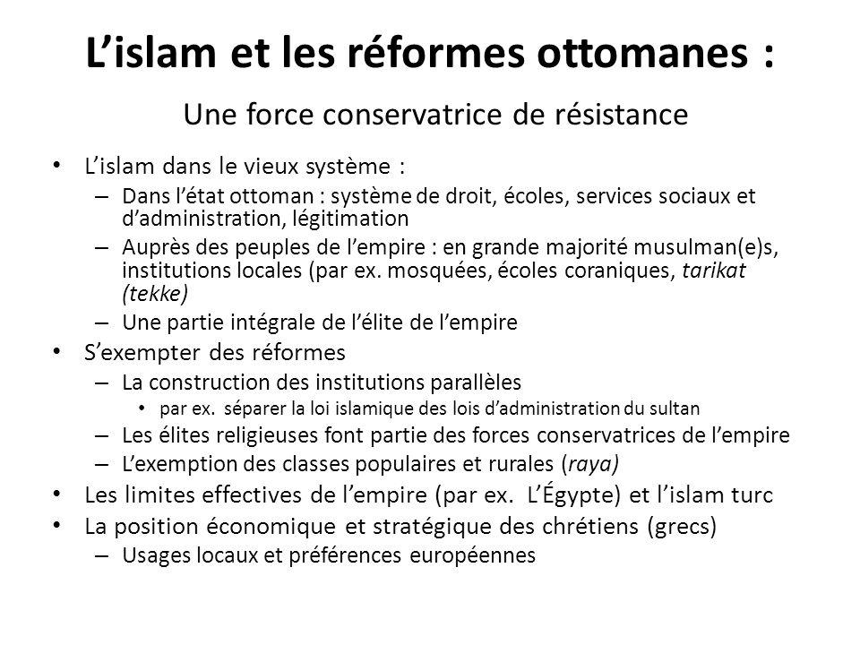 L'islam et les réformes ottomanes : Une force conservatrice de résistance